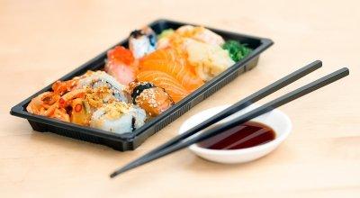 gember bij sushi